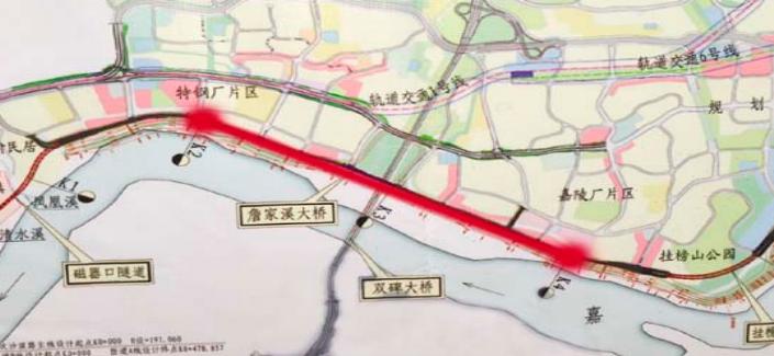 重庆市嘉陵江磁井段防洪护岸综合整治工程